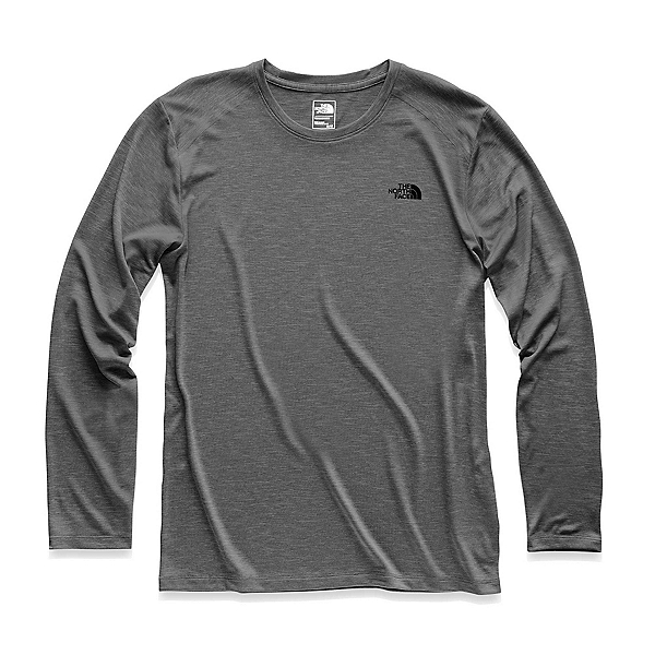 The North Face HyperLayer FD Long Sleeve Crew Mens Mid Layer, TNF Dark Grey Heather, 600