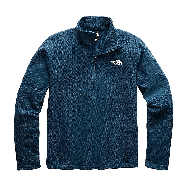 The North Face Textured Cap Rock 1/4 Zip Mens Mid Layer, Blue Wing Teal, 600