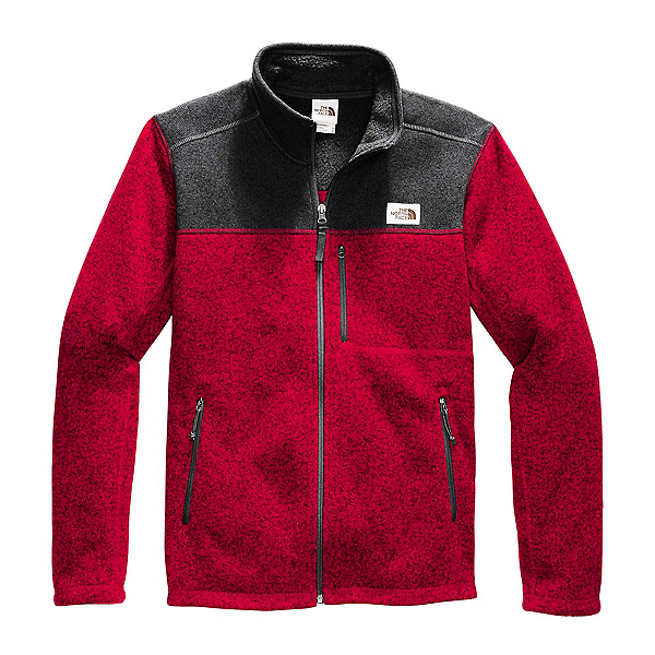 The North Face Gordon Lyons Full Zip Mens Sweater (Previous Season) 2020, Cardinal Red Heather-TNF Dark, 600