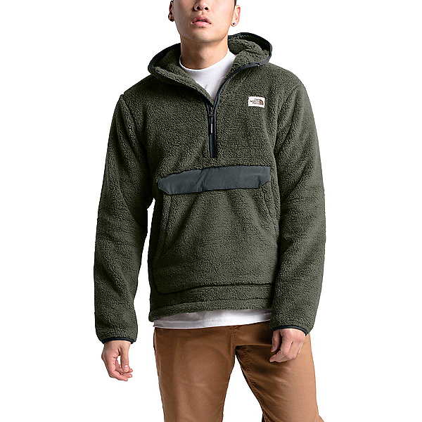 The North Face Campshire Pullover Mens Hoodie, New Taupe Green-Asphalt Grey, 600