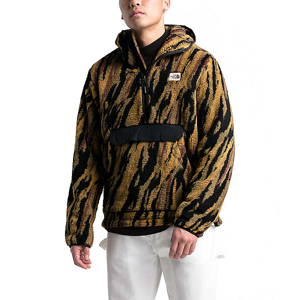 The North Face Campshire Pullover Mens Hoodie, British Khaki Tiger Camo Print, 600