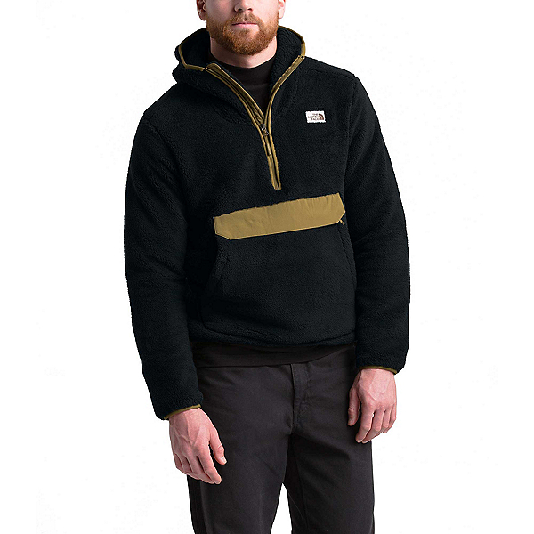 The North Face Campshire Pullover Mens Hoodie, TNF Black-British Khaki, 600