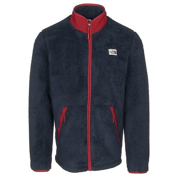 The North Face Campshire Full Zip Mens Jacket, Urban Navy-Cardinal Red, 600