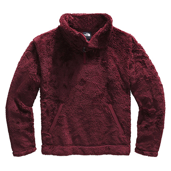 The North Face Furry Fleece Pullover Womens Jacket, Deep Garnet Red-Picante Red, 600