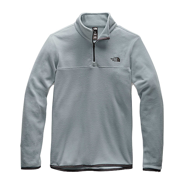 The North Face TKA Glacier 1/4 Zip Womens Mid Layer, Mid Grey-Mid Grey, 600