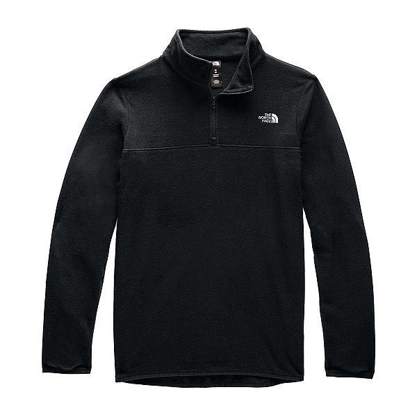 The North Face TKA Glacier 1/4 Zip Womens Mid Layer (Previous Season) 2020, TNF Black-TNF Black, 600