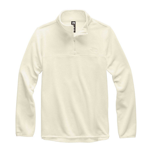 The North Face TKA Glacier 1/4 Zip Womens Mid Layer, Vintage White-Vintage White, 600