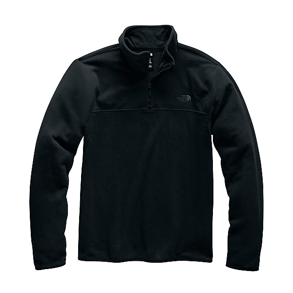 The North Face TKA Glacier 1/4 Zip Mens Mid Layer, TNF Black-TNF Black, 600