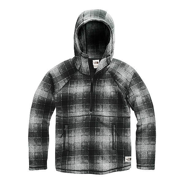 The North Face Printed Crescent Pullover Womens Hoodie, High Rise Grey Ombre Plaid Small Print, 600