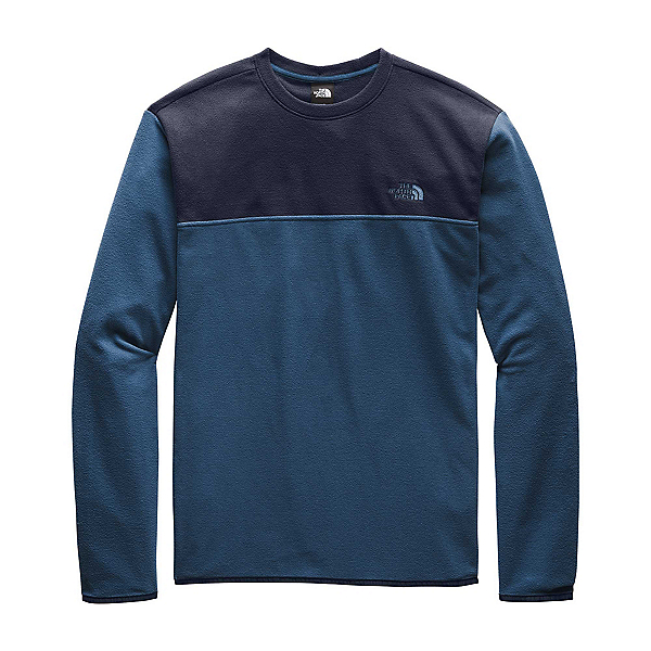 The North Face TKA Glacier Pullover Crew, Blue Wing Teal-Urban Navy, 600
