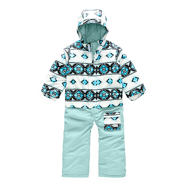 The North Face Insulated Jumpsuit Toddlers One Piece Ski Suit, TNF White Tribal Geo Print, 600
