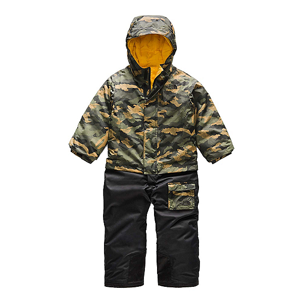 The North Face Insulated Jumpsuit Toddlers One Piece Ski Suit (Previous Season) 2020, British Khaki Mini Waxed Camo, 600