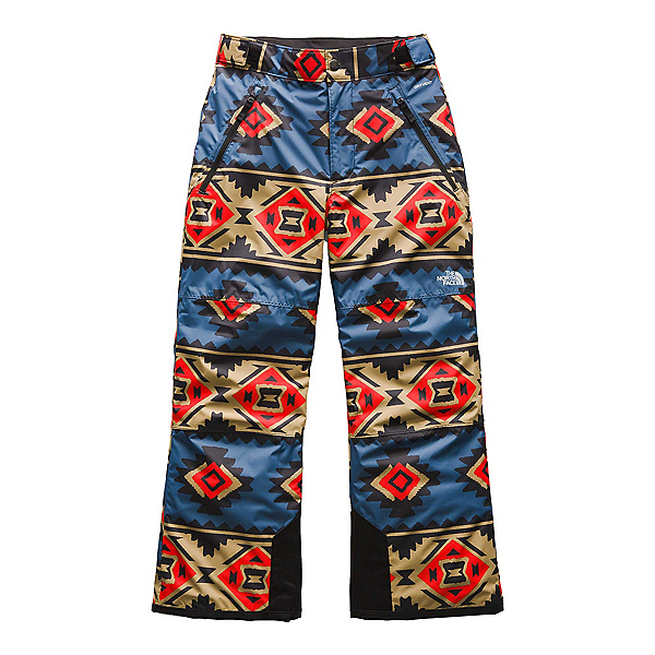 The North Face Freedom Insulated Kids Ski Pants (Previous Season) 2020, Fiery Red Tribal Geo Print, 600