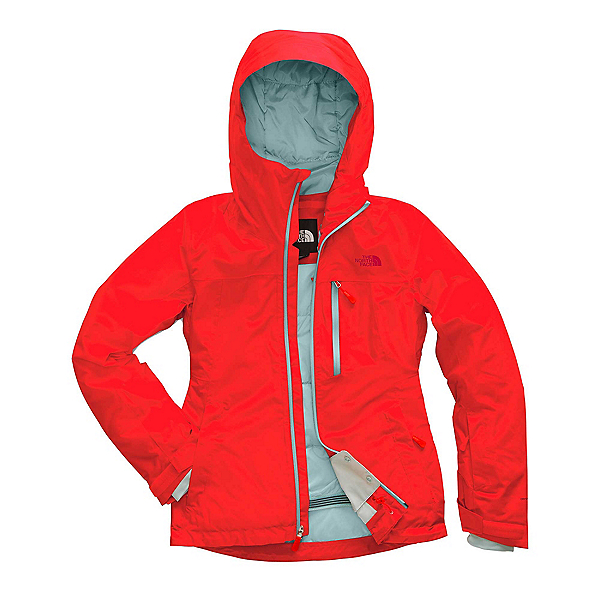 The North Face Descendit Womens Insulated Ski Jacket, Fiery Red, 600
