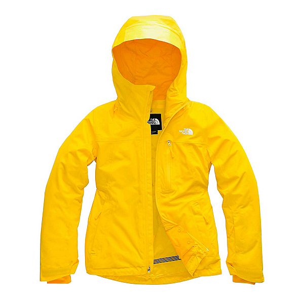 The North Face Descendit Womens Insulated Ski Jacket, Vibrant Yellow, 600