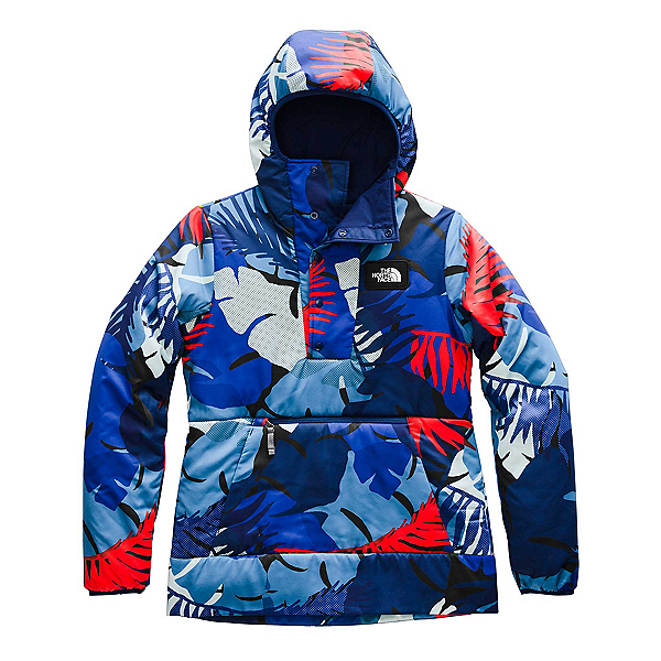 The North Face Fallback Womens Hoodie, Flag Blue Palms Print, 600