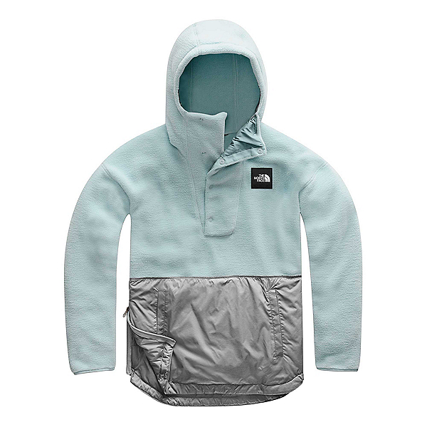 The North Face Riit Pullover Womens Hoodie, Cloud Blue-TNF Medium Grey Hea, 600