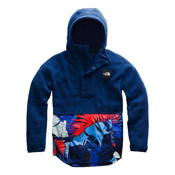 The North Face Riit Pullover Womens Hoodie, Flag Blue-Flag Blue Palms Prin, 600