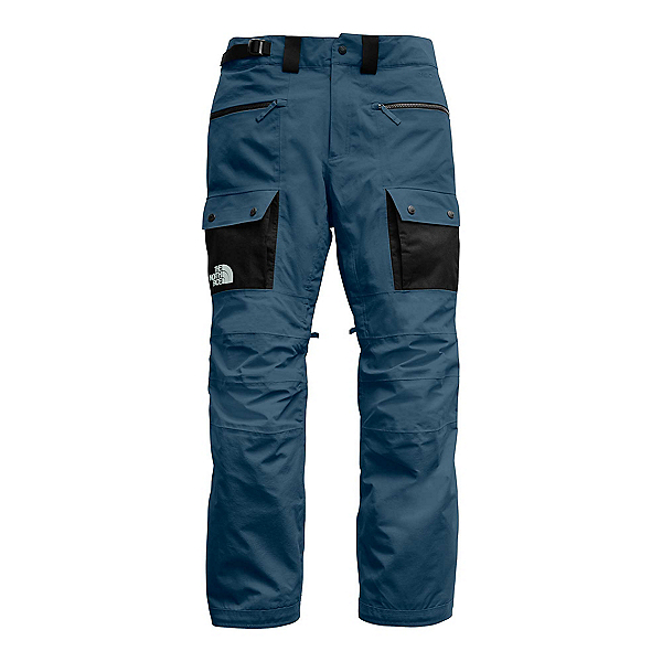 The North Face Slashback Cargo Mens Ski Pants, Blue Wing Teal-TNF Black, 600