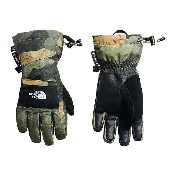 The North Face Montana ETIP GTX Boys Kids Gloves, Burnt Olive Green Waxed Camo, 600