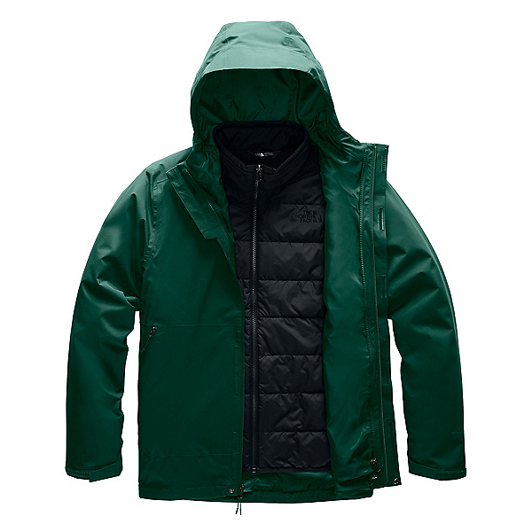 The North Face Carto Triclimate Mens Jacket, Night Green-TNF Black, 600