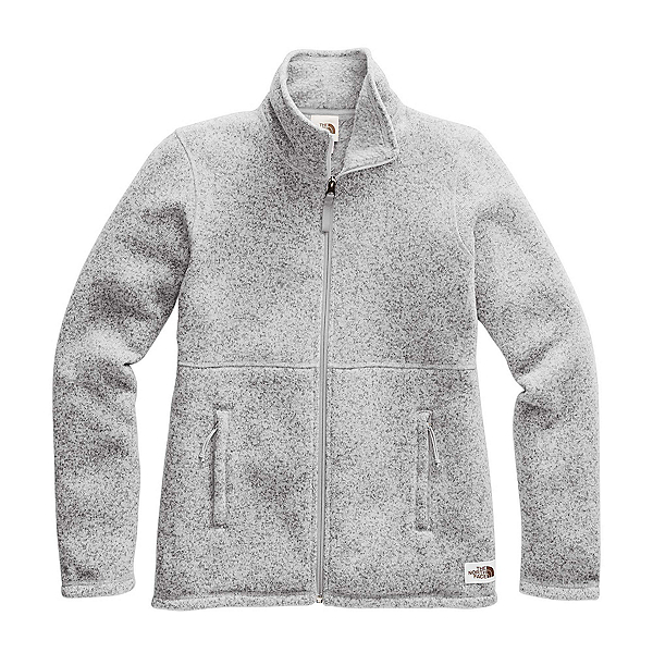 The North Face Crescent Full Zip Womens Mid Layer, TNF Light Grey Heather, 600