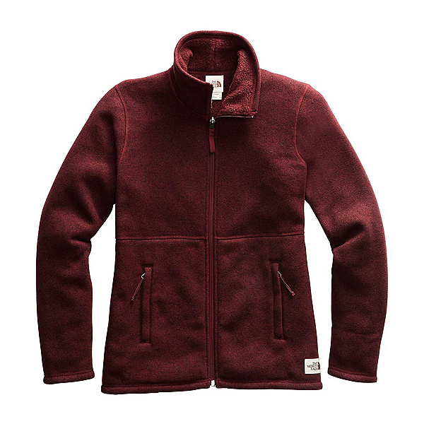 The North Face Crescent Full Zip Womens Mid Layer, Deep Garnet Red Heather, 600