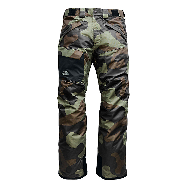 The North Face Freedom Short Mens Ski Pants, Four Leaf Clover Terra Camo Pr, 600