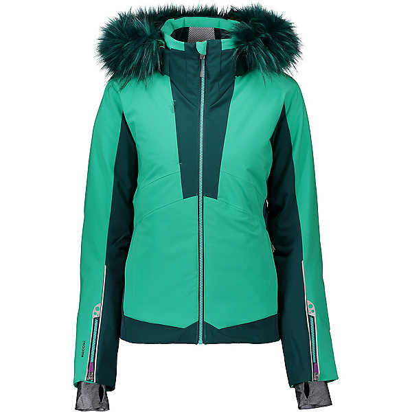 Obermeyer Malakai Faux Fur Womens Insulated Ski Jacket 2020, Lets Galapago, 600