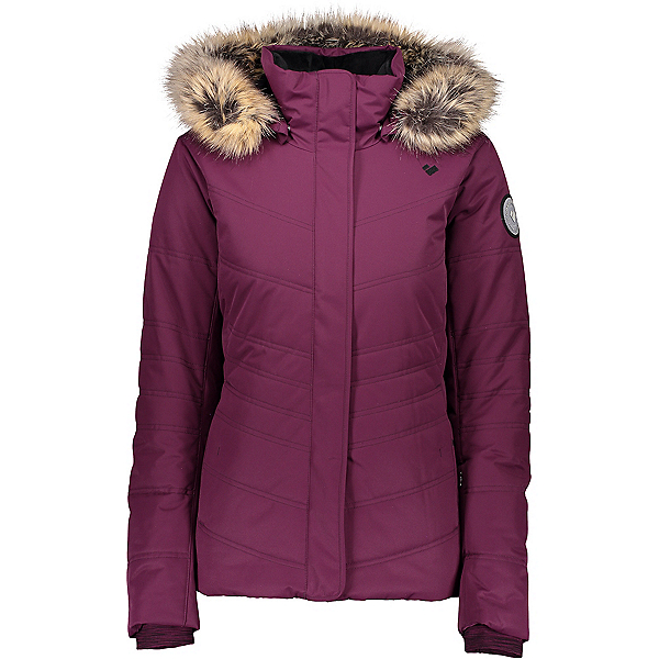 Obermeyer Tuscany II Womens Insulated Ski Jacket, Drop The Beet, 600