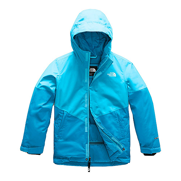 The North Face Brianna Girls Ski Jacket, Turquoise Blue, 600