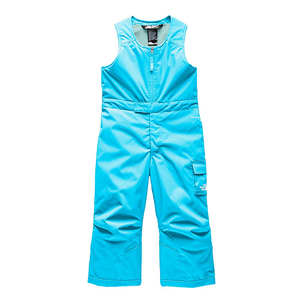 The North Face Insulated Bib Toddler Girls Ski Pants (Previous Season) 2020, Turquoise Blue, 600