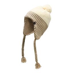 official photos b3f5e 39c1e The North Face Purrl Stitch Earflap Womens Hat, Vintage White Heather, 256