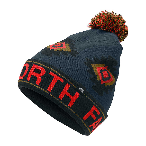 The North Face Ski Tuke Kids Hat, Fiery Red Tribal Geo Print, 600
