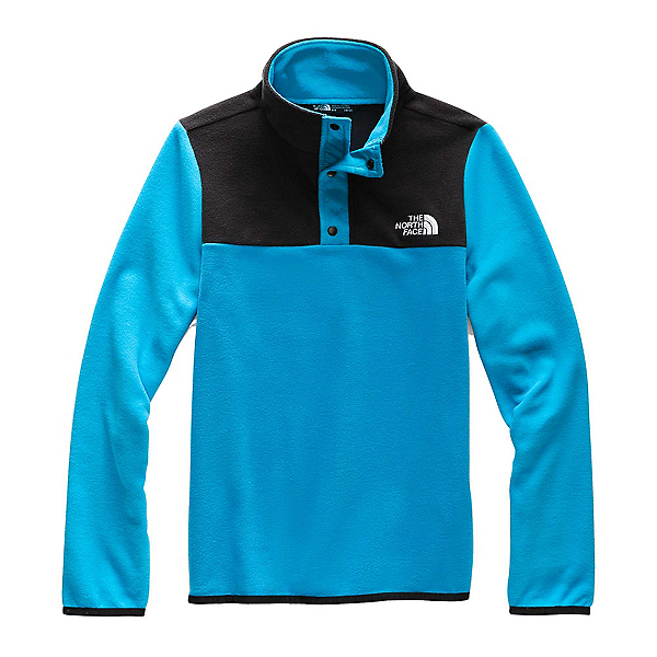 The North Face Glacier 1/4 Snap Kids Midlayer (Previous Season) 2020, Acoustic Blue, 600