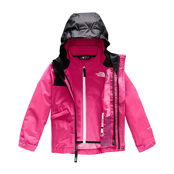 The North Face Snowquest Triclimate Toddler Girls Ski Jacket (Previous Season) 2020, Mr. Pink, 600