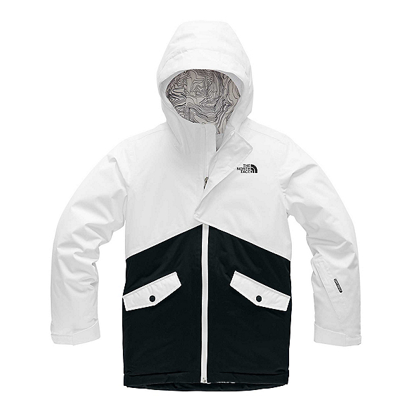 The North Face Freedom Girls Ski Jacket (Previous Season) 2020, TNF White-TNF Black, 600