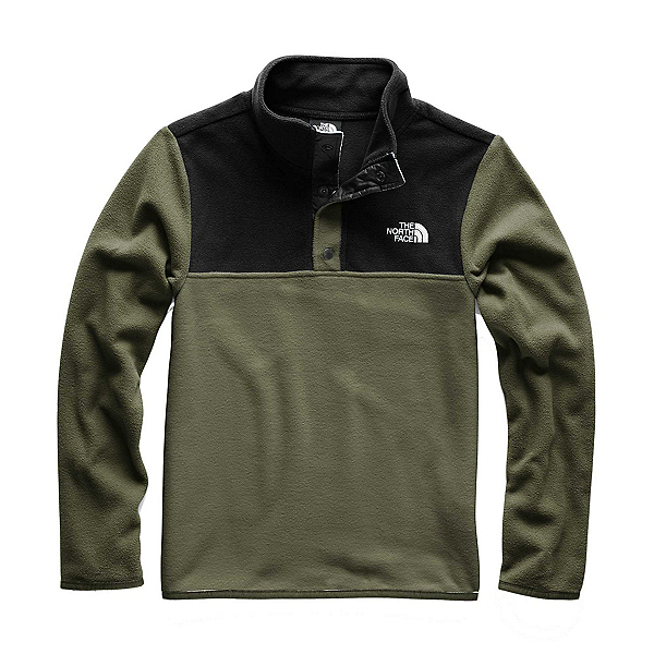 The North Face Glacier 1/4 Snap Kids Midlayer, New Taupe Green, 600