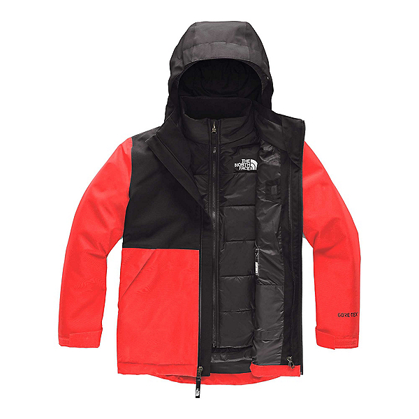 The North Face Fresh Tracks Triclimate Boys Ski Jacket (Previous Season) 2020, Fiery Red, 600