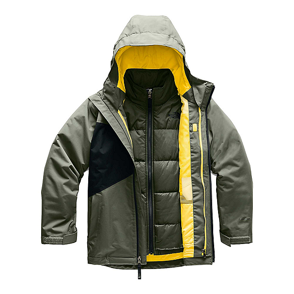 The North Face Clement Triclimate Boys Ski Jacket, New Taupe Green, 600
