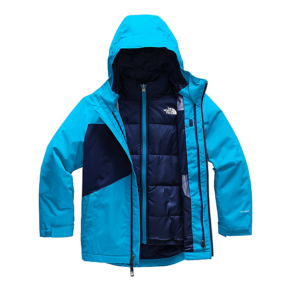 The North Face Clement Triclimate Boys Ski Jacket, Acoustic Blue, 600