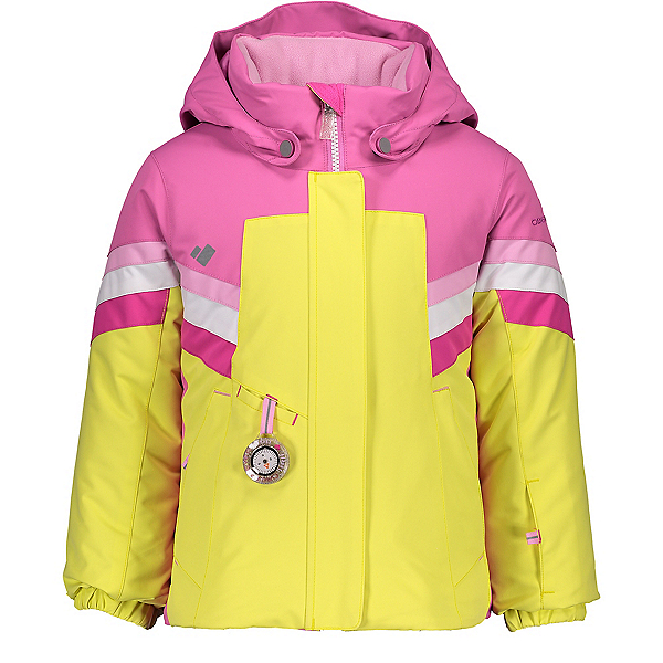 Obermeyer Neato Toddler Girls Ski Jacket, Lemon Whip, 600