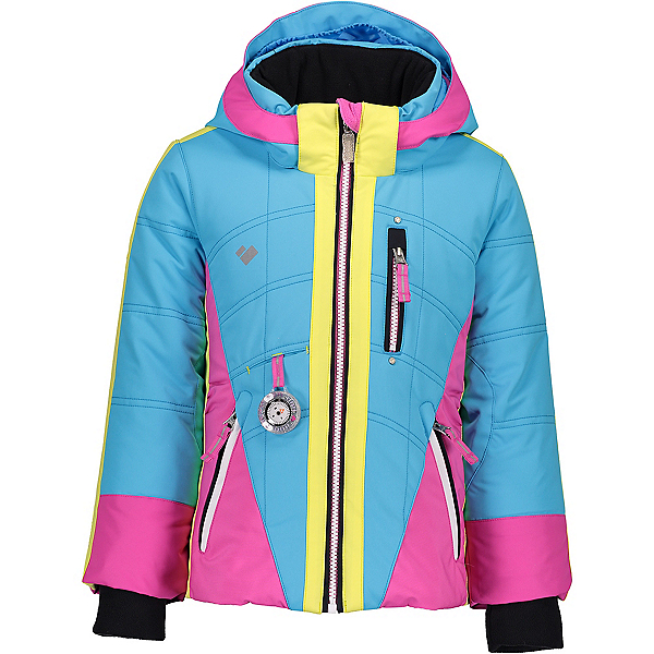 Obermeyer Hey Sunshine Toddler Girls Ski Jacket 2020, Unicorn Sky, 600