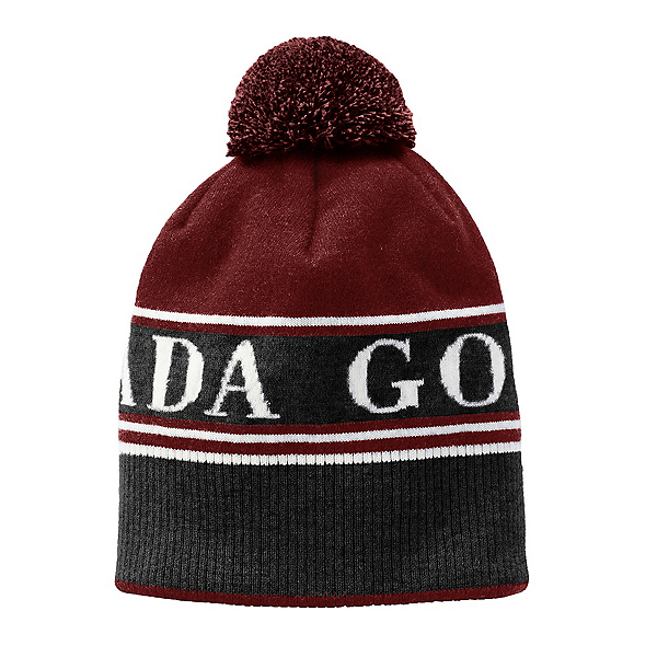 Canada Goose Pom Toque Mens Hat, Redwood, 600