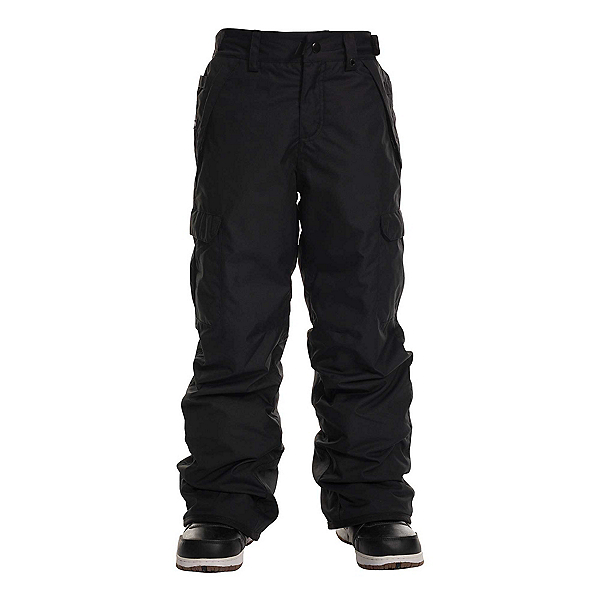 686 Infinity Insulated Cargo Kids Snowboard Pants 2020, Black, 600