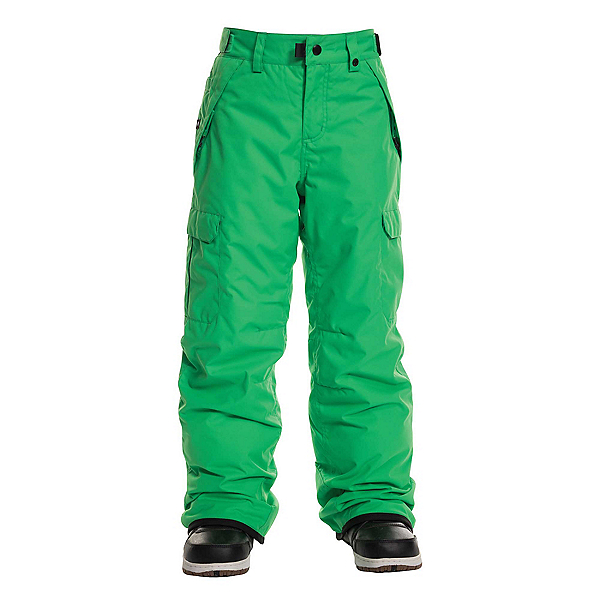 686 Infinity Insulated Cargo Kids Snowboard Pants, Hex Green, 600