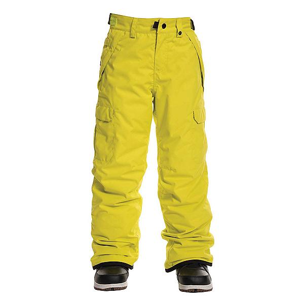 686 Infinity Insulated Cargo Kids Snowboard Pants, Sulphur, 600