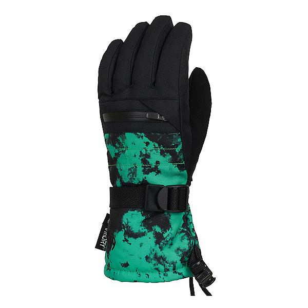 686 Heat Insulated Kids Gloves, Hex Green Dazed, 600