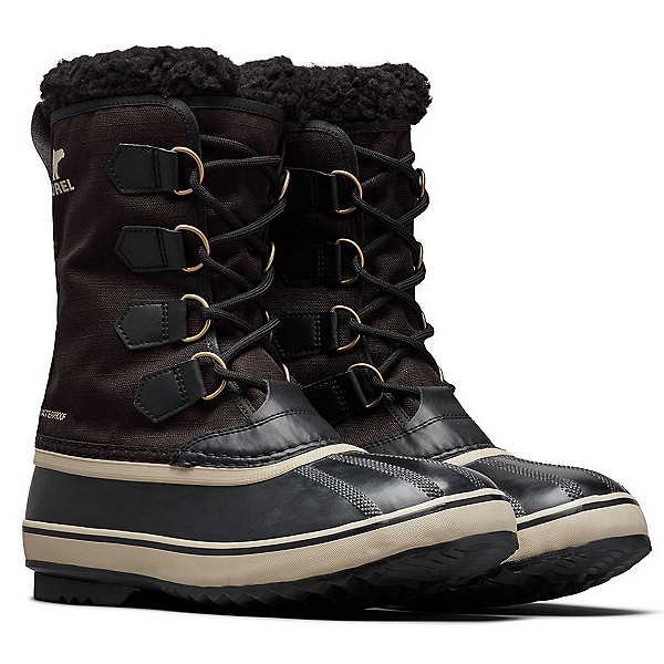 Sorel 1964 Pac Nylon Mens Boots, Black-Ancient Fossil, 600