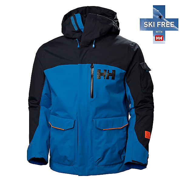 Helly Hansen Fernie 2.0 Mens Insulated Ski Jacket, Electric Blue, 600